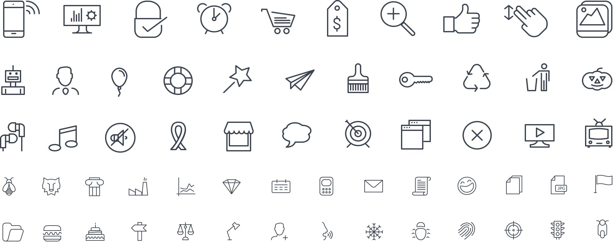 Buy Line Icon Pack Icontail